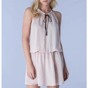 Do + Be neck tie elastic waist sleeveless dress